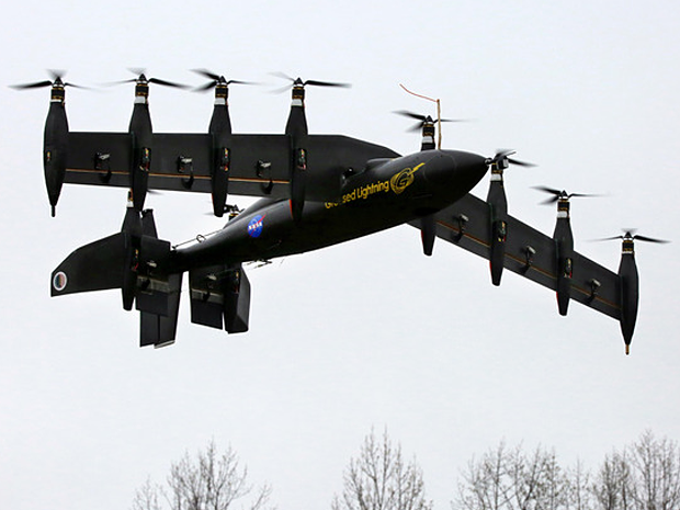NASAs 10 Engine Helicopter Aircraft Hybrid Drone